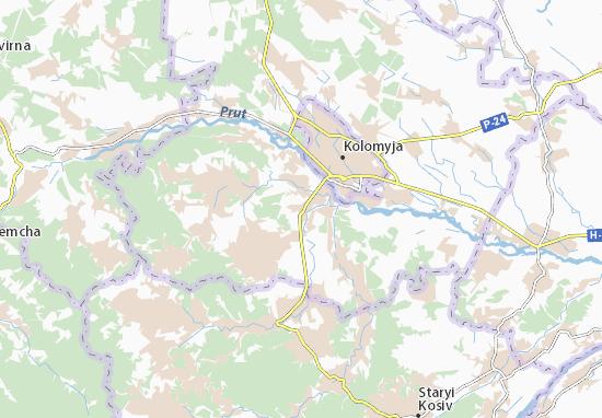 Mapa Plano Verkhnii Verbizh