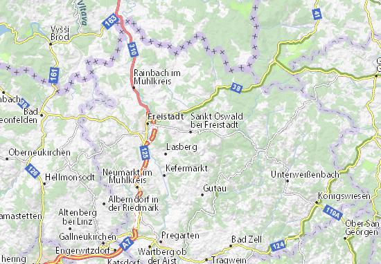 Kaart Plattegrond Sankt Oswald bei Freistadt