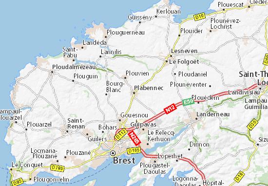 Plabennec Map
