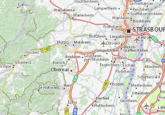Carte-Plan Griesheim-près-Molsheim