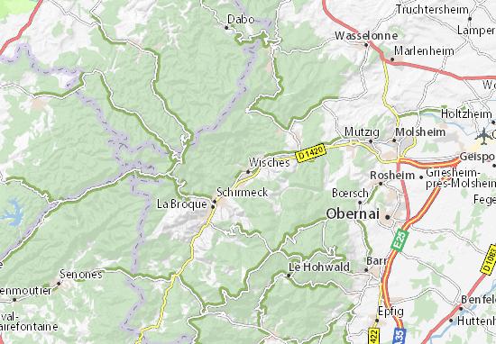Wisches Map