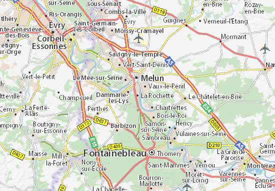 Map of La Rochette Michelin La Rochette map ViaMichelin – Map Of La Tourist Attractions