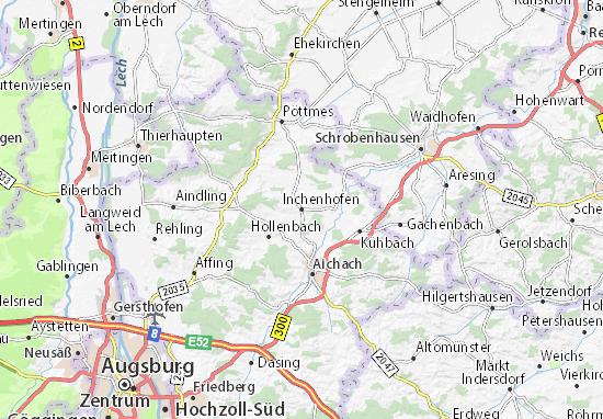 Karte Stadtplan Inchenhofen