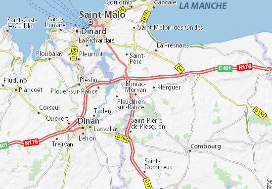 Mapa Plano Miniac-Morvan