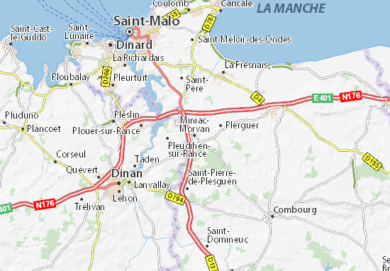 Miniac-Morvan Map