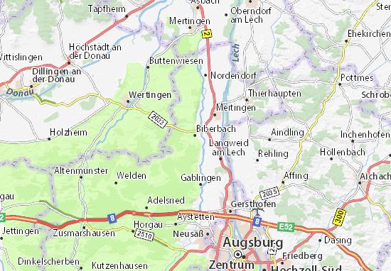 Kaart Plattegrond Biberbach