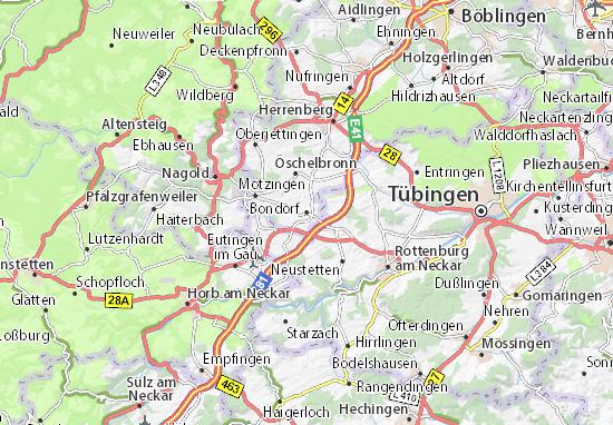 Karte Stadtplan Bondorf