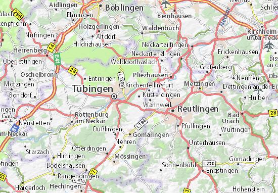 Karte Stadtplan Kusterdingen