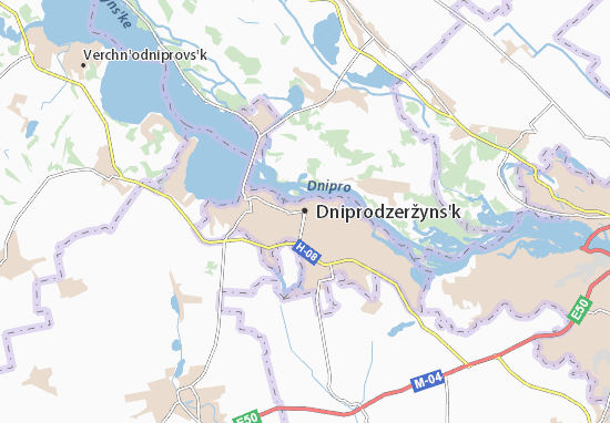 Dniprodzeržyns'k Map