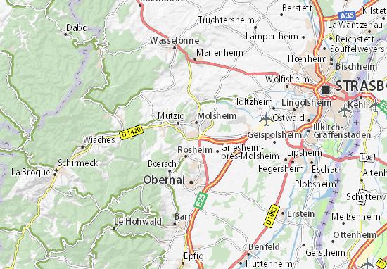 Karte Stadtplan Dorlisheim
