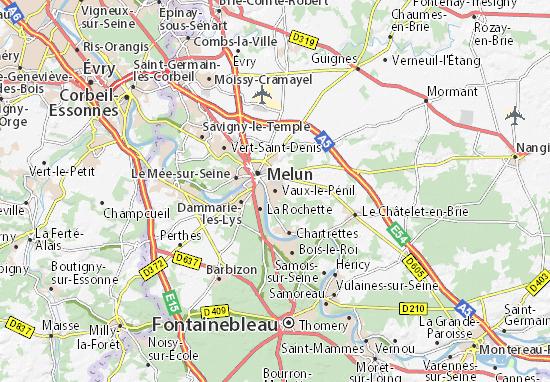 Vaux-le-Pénil Map
