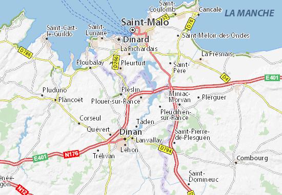 Mapa Plano Plouër-sur-Rance