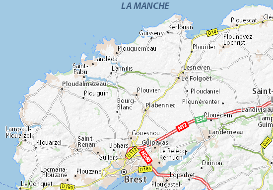Carte-Plan Plouvien