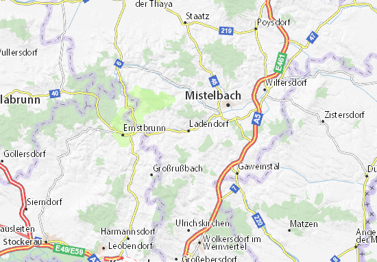 Karte Stadtplan Ladendorf