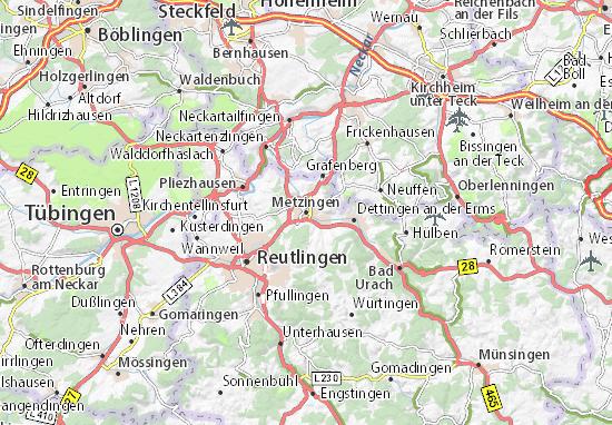 Karte Stadtplan Metzingen