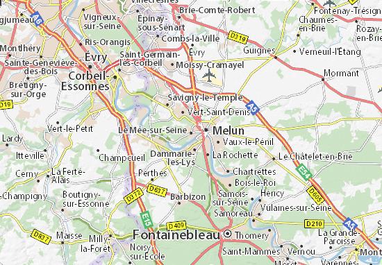 Le Mée-sur-Seine Map