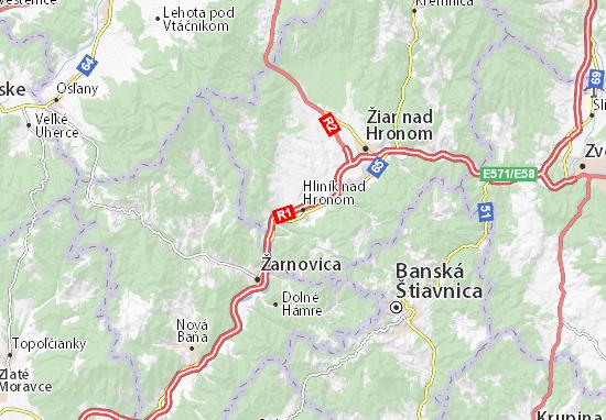 Mapas-Planos Hliník nad Hronom