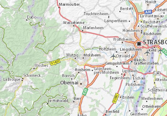 Karte Stadtplan Molsheim