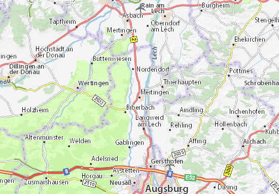 Meitingen Map