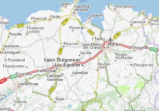 Guiclan Map