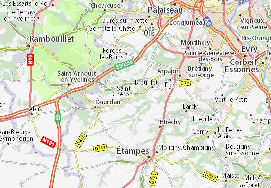 Carte-Plan Saint-Chéron