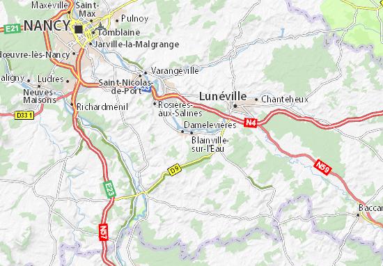 Mappe-Piantine Blainville-sur-l'Eau