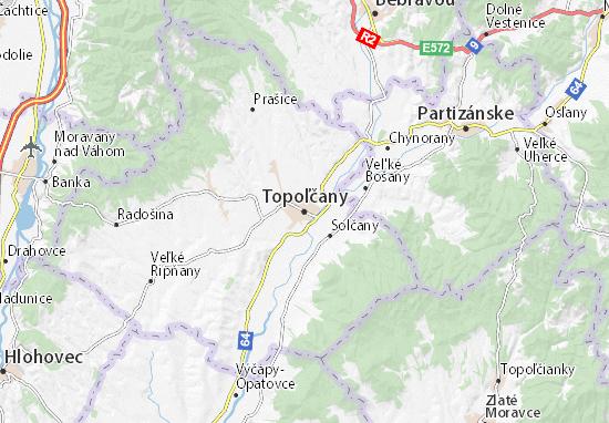Mapa Plano Topoľčany