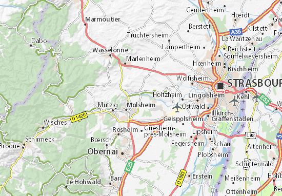 Dachstein Karte.Karte Stadtplan Dachstein Viamichelin