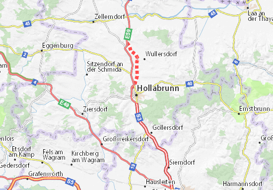 Carte-Plan Hollabrunn