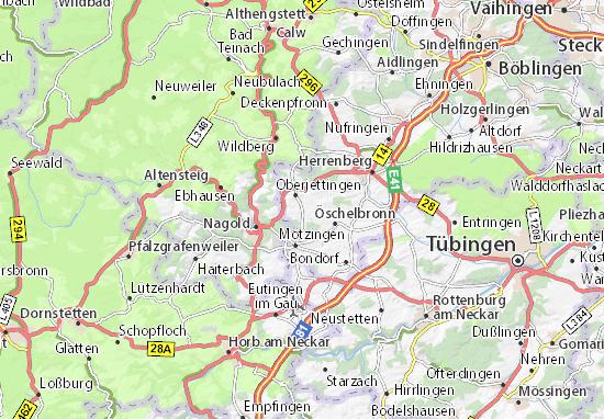 Mapa Plano Unterjettingen