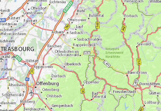 Ottenhöfen im Schwarzwald Map