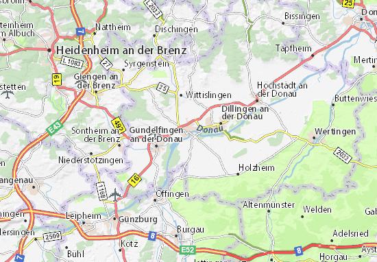 Karte Stadtplan Lauingen