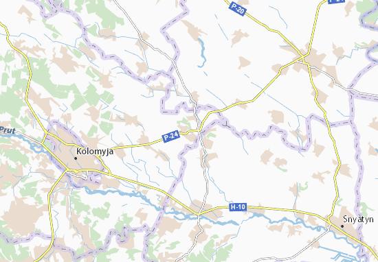 Staryi Hvizdets' Map