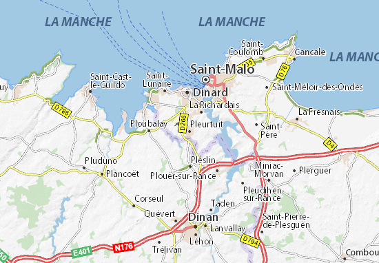 Pleurtuit Map