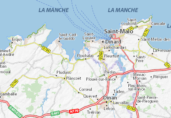 Ploubalay Map