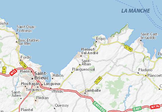 Mapas-Planos Pléneuf-Val-André