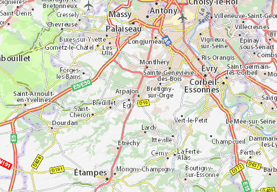 Carte-Plan Arpajon