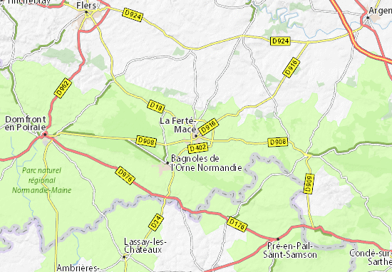 Mapa Plano La Ferté-Macé
