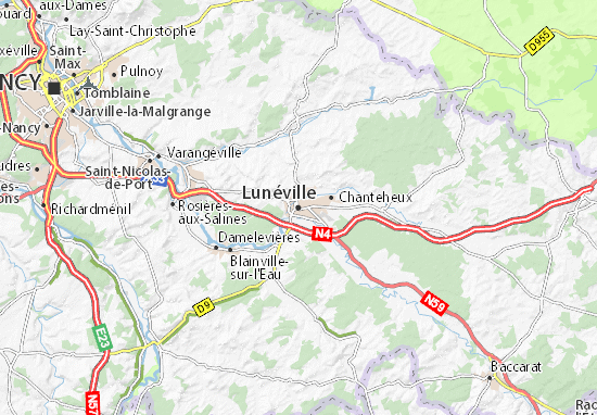 Lunéville Map