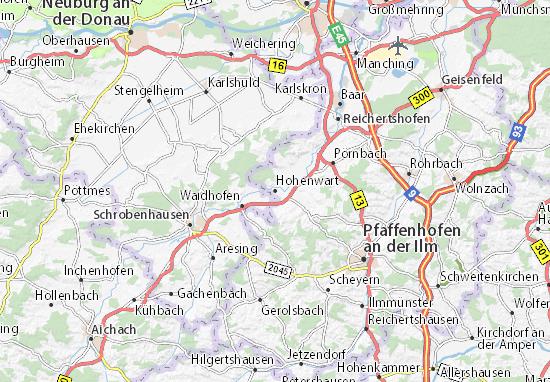 Karte Stadtplan Hohenwart