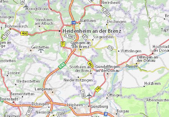 Hermaringen Map