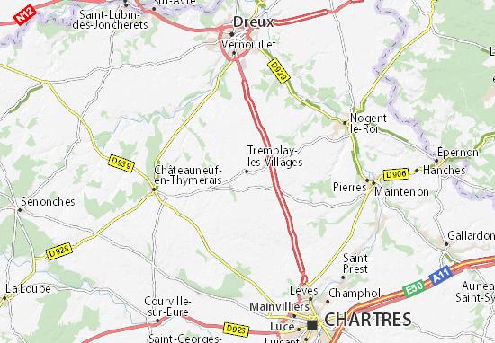Carte-Plan Tremblay-les-Villages