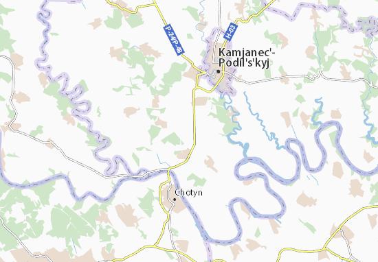 Mapa Plano Khodorivtsi
