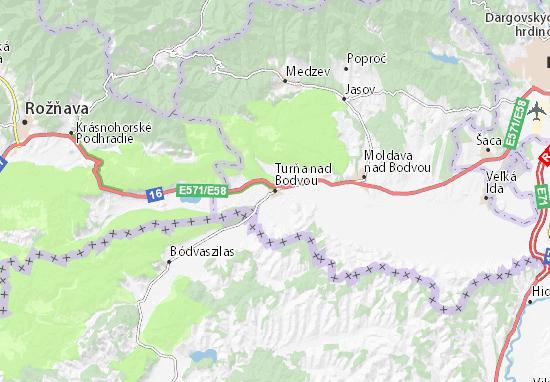 Turňa nad Bodvou Map
