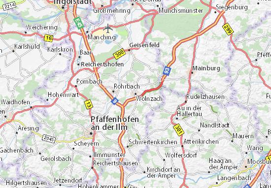 Karte Stadtplan Wolnzach