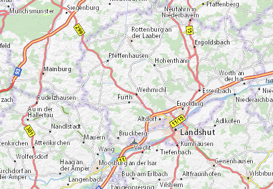 Karte Stadtplan Weihmichl