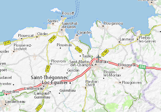 Taulé Map