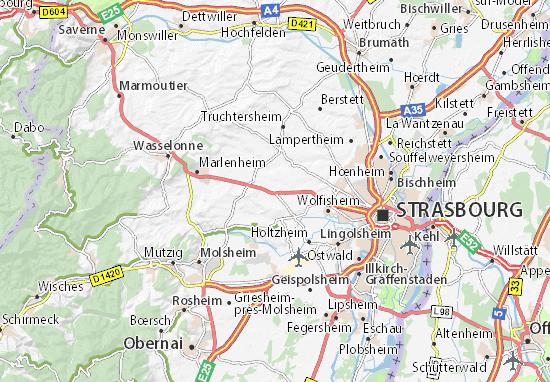 Karte Stadtplan Ittenheim
