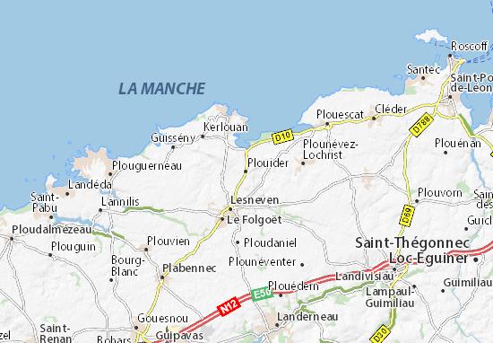 Plouider Map