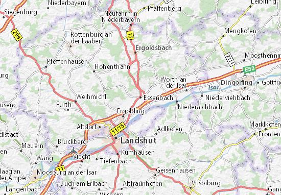 Karte Stadtplan Essenbach